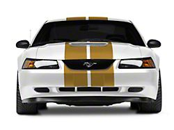 SEC10 GT500 Style Stripes; Gold; 10-Inch (94-04 All)