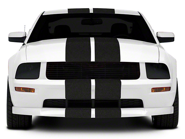 SEC10 GT500 Style Stripes; Anthracite; 10-Inch (05-14 All)