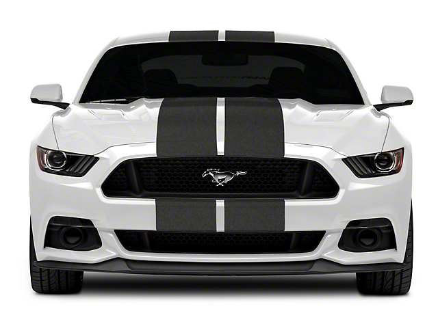 SEC10 GT500 Style Stripes; Anthracite; 10-Inch (15-21 All)