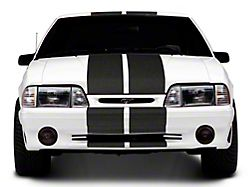 SEC10 GT500 Style Stripes; Anthracite; 10-Inch (79-93 All)