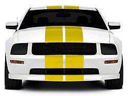SEC10 GT500 Style Stripes; Yellow; 10-Inch (05-14 All)