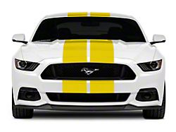 SEC10 GT500 Style Stripes; Yellow; 10-Inch (15-21 All)