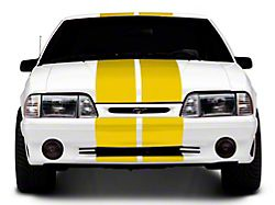 SEC10 GT500 Style Stripes; Yellow; 10-Inch (79-93 All)