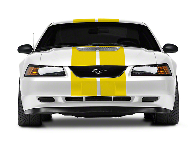 American Muscle Graphics Yellow GT500 Style Stripes - 10 in. (94-04 All)