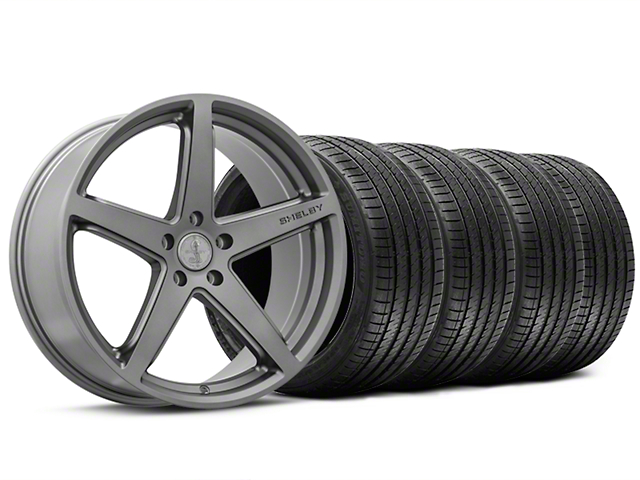Shelby Style SB201 Charcoal Wheel and Sumitomo Maximum Performance HTR Z5 Tire Kit; 20x9.5 (15-20 GT, EcoBoost, V6)