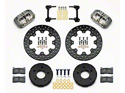 Wilwood DynaPro Drag Race Front Big Brake Kit; Anodized Gray Calipers (94-04 All)