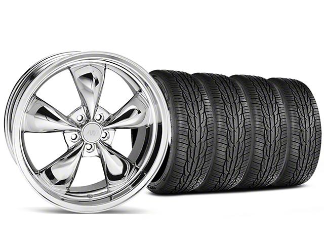 Bullitt Chrome Wheel and Toyo Extensa High Performance II A/S Tire Kit; 20x8.5 (05-10 GT; 05-14 V6)