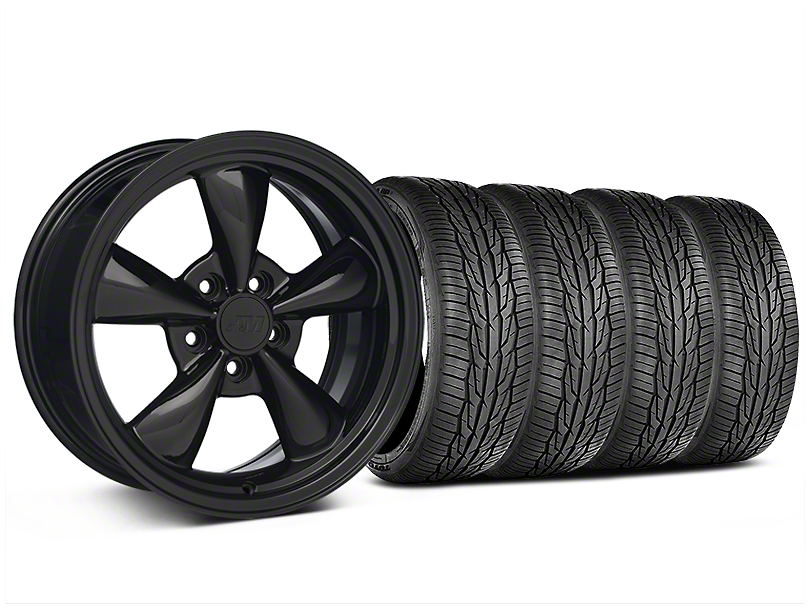 Bullitt Solid Black Wheel and Toyo Extensa High Performance II A/S Tire Kit; 17x8 (05-10 GT; 05-14 V6)