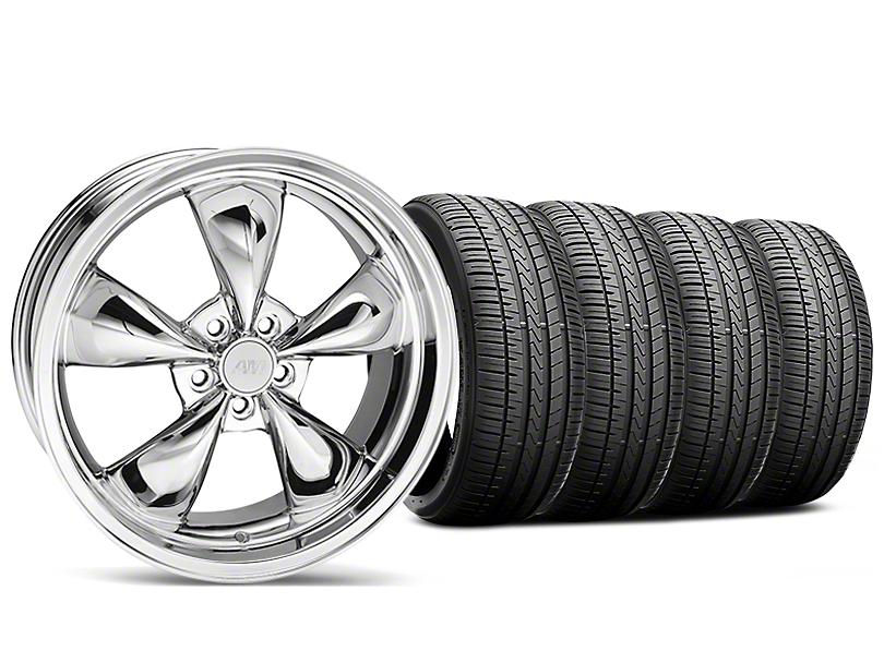 Bullitt Chrome Wheel and Falken Azenis FK510 Performance Tire Kit; 20x8.5 (05-10 GT; 05-14 V6)