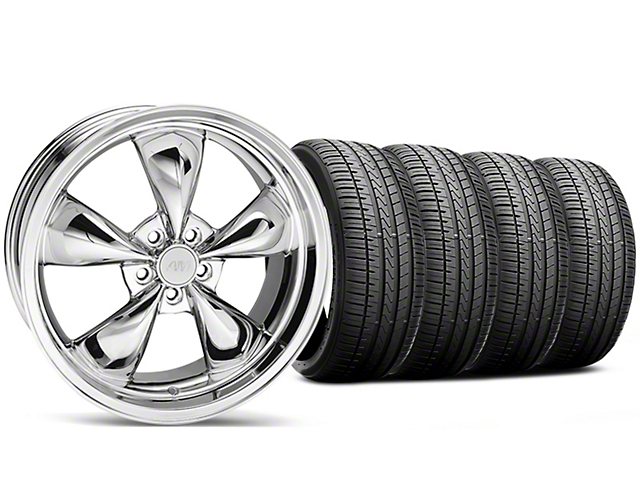 Bullitt Chrome Wheel and Falken Azenis FK510 Performance Tire Kit; 20x8.5 (05-10 GT; 05-14 V6)