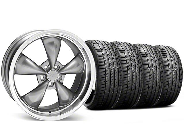 Bullitt Anthracite Wheel and Falken Azenis FK510 Performance Tire Kit; 20x8.5 (05-10 GT; 05-14 V6)
