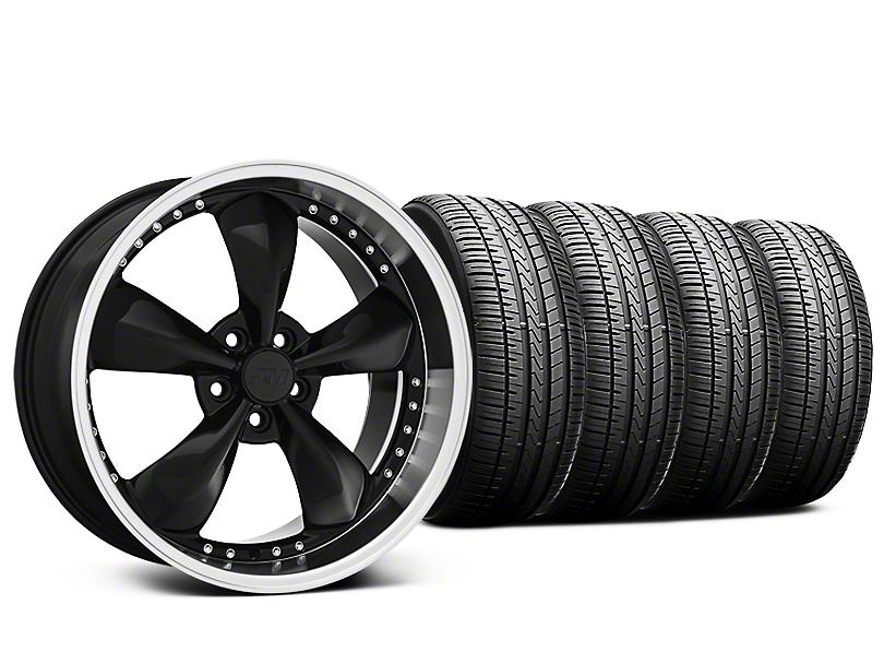 Staggered Bullitt Motorsport Black Wheel & Falken Azenis FK510 Performance Tire Kit - 20x8.5/10 (05-10 GT; 05-14 V6)