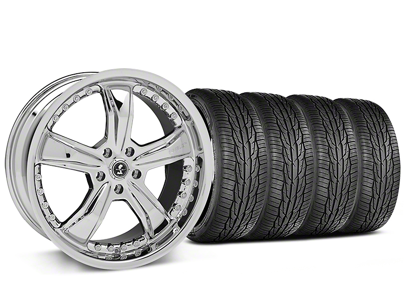 Shelby Razor Chrome Wheel and Toyo Extensa High Performance II A/S Tire Kit; 20x9 (05-14 All)