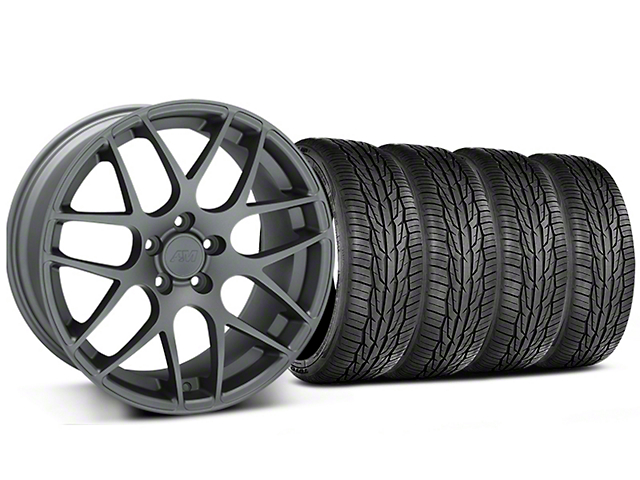 AMR Charcoal Wheel and Toyo Extensa High Performance II A/S Tire Kit; 19x8.5 (15-20 GT, EcoBoost, V6)