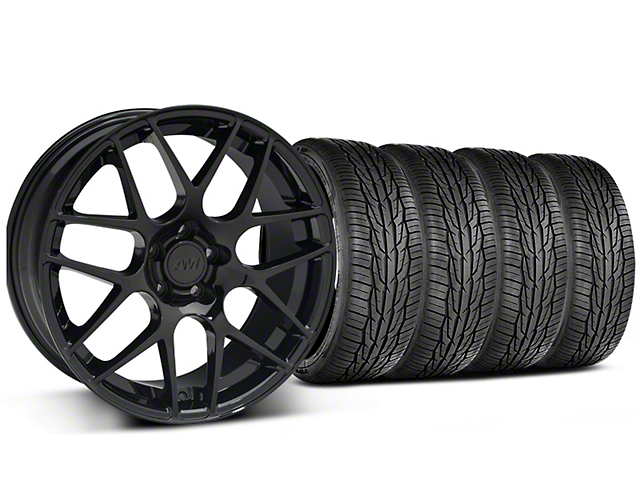 Staggered AMR Black Wheel & Toyo Extensa High Performance II A/S Tire - 19x8.5/10 (05-14 All)