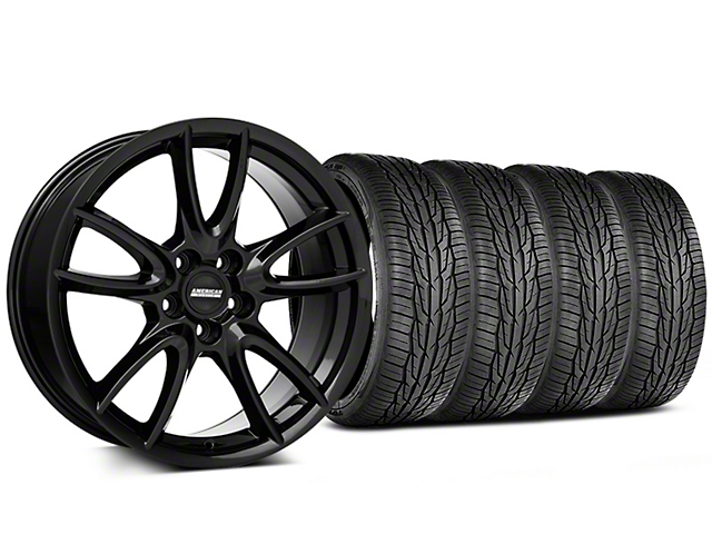 Track Pack Style Gloss Black Wheel and Toyo Extensa High Performance II A/S Tire Kit; 19x8.5 (05-14 All)
