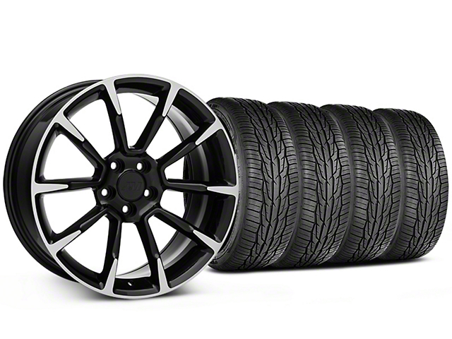11/12 GT/CS Style Black Machined Wheel and Toyo Extensa High Performance II A/S Tire Kit; 19x8.5 (05-14 All)