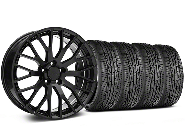 Performance Pack Style Black Wheel and Toyo Extensa High Performance II A/S Tire Kit; 19x8.5 (05-14 All)