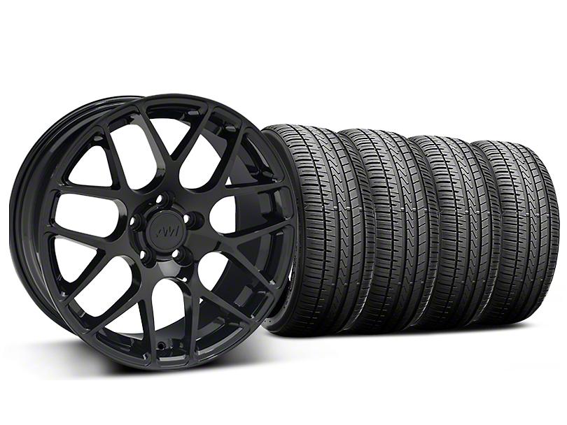 AMR Black Wheel and Falken Azenis FK510 Performance Tire Kit; 18x9 (99-04 All)