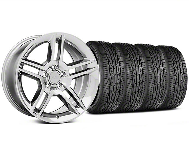 Staggered 2010 GT500 Style Chrome Wheel and Toyo Extensa High Performance II A/S Tire Kit; 18x9/10 (05-14 All)