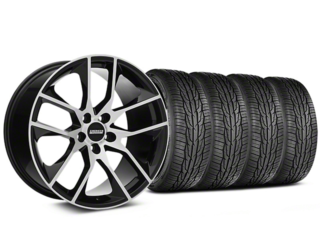 Staggered Magnetic Style Black Machined Wheel & Toyo Extensa High Performance II A/S Tire - 19x8.5/10 (05-14 All)