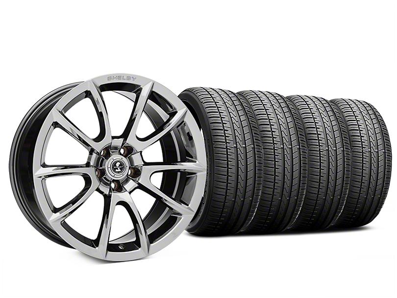 Staggered Super Snake Style Chrome Wheel & Falken Azenis FK510 Performance Tire Kit - 20x9/10 (05-14 All)