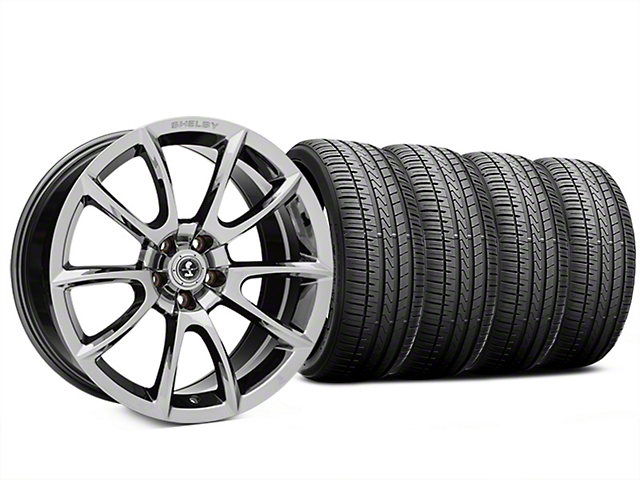 Staggered Super Snake Style Chrome Wheel and Falken Azenis FK510 Performance Tire Kit; 20x9/10 (05-14 All)