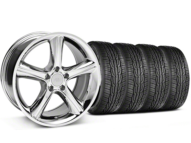 2010 GT Premium Style Chrome Wheel and Toyo Extensa High Performance II A/S Tire Kit; 18x9 (05-14 Standard GT, V6)