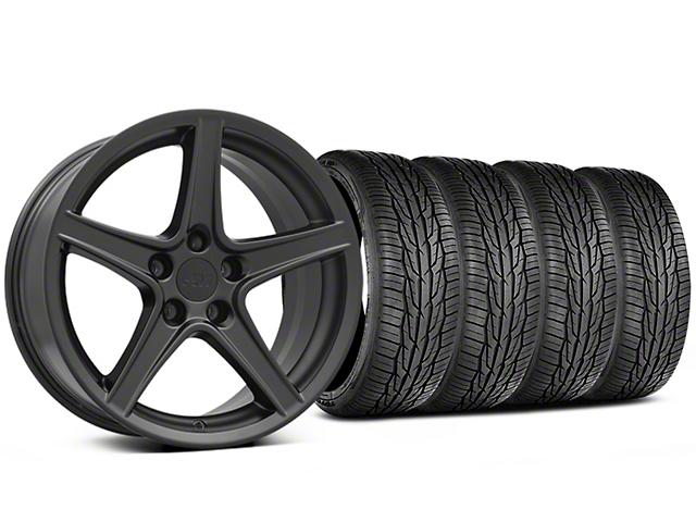 Saleen Style Matte Black Wheel & Toyo Extensa High Performance II A/S Tire - 18x9 (05-14 Standard GT, V6)