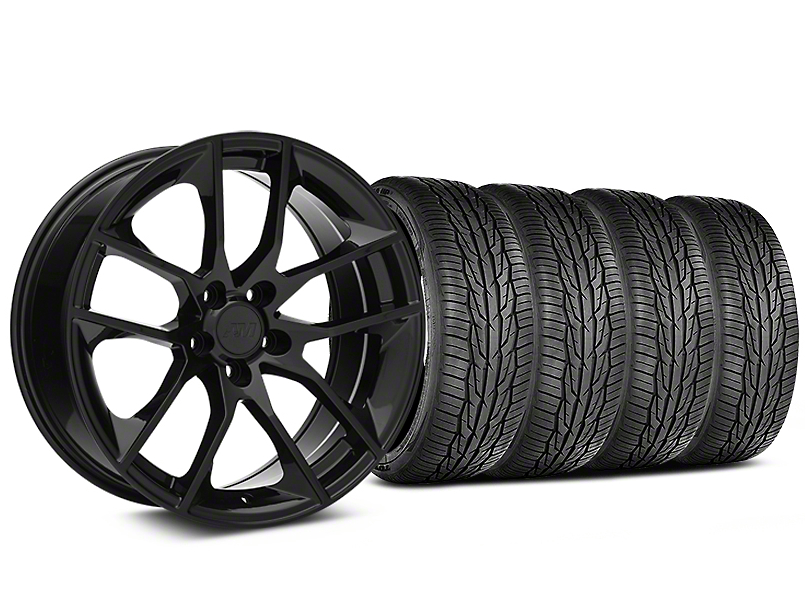 Magnetic Style Black Wheel and Toyo Extensa High Performance II A/S Tire Kit; 19x8.5 (05-14 Standard GT, V6)