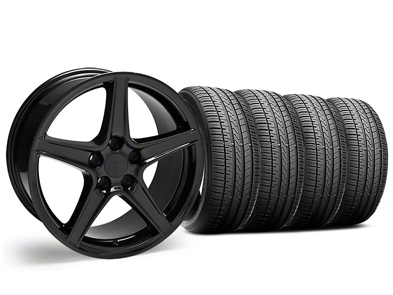 Saleen Style Black Wheel & Falken Azenis FK510 Performance Tire Kit - 18x9 (05-14 Standard GT, V6)