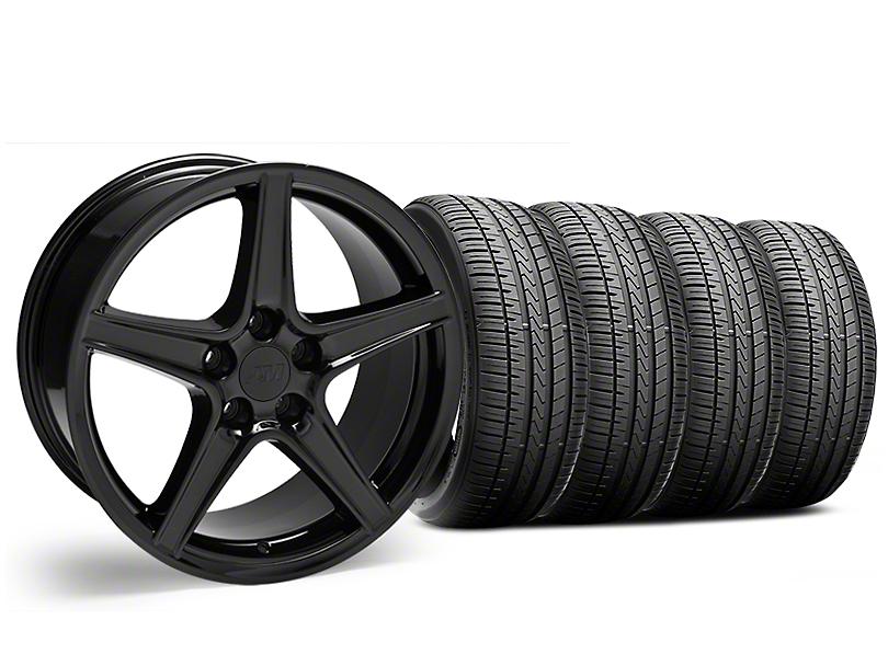 Saleen Style Black Wheel & Falken Azenis FK510 Performance Tire Kit - 19x8.5 (05-14 Standard GT, V6)