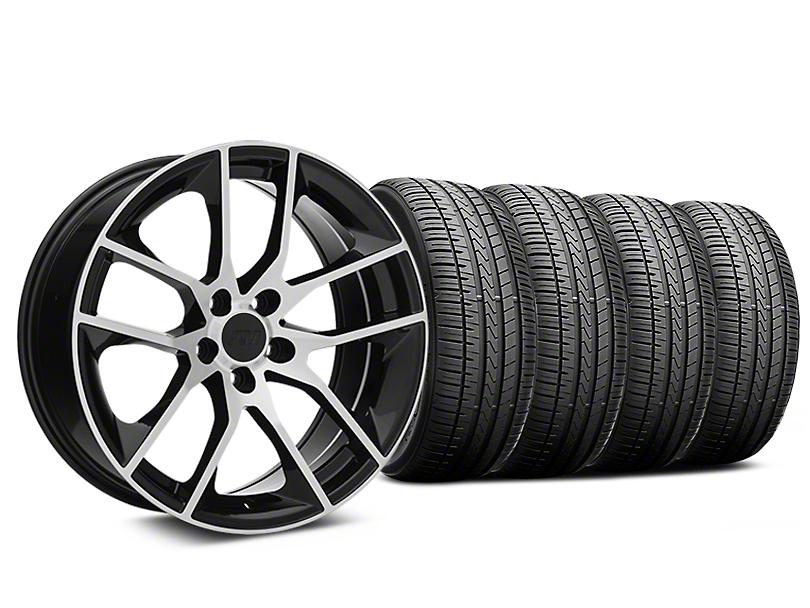 Magnetic Style Black Machined Wheel & Falken Azenis FK510 Performance Tire Kit - 19x8.5 (05-14 Standard GT, V6)