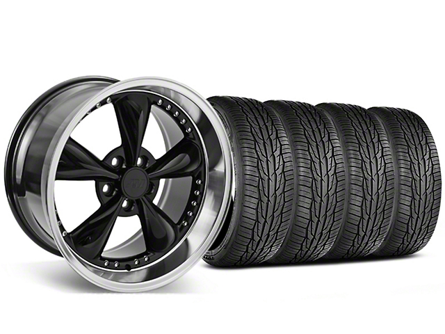 Staggered Bullitt Motorsport Black Wheel & Toyo Extensa High Performance II A/S Tire - 18x9/10 (05-14 Standard GT, V6)