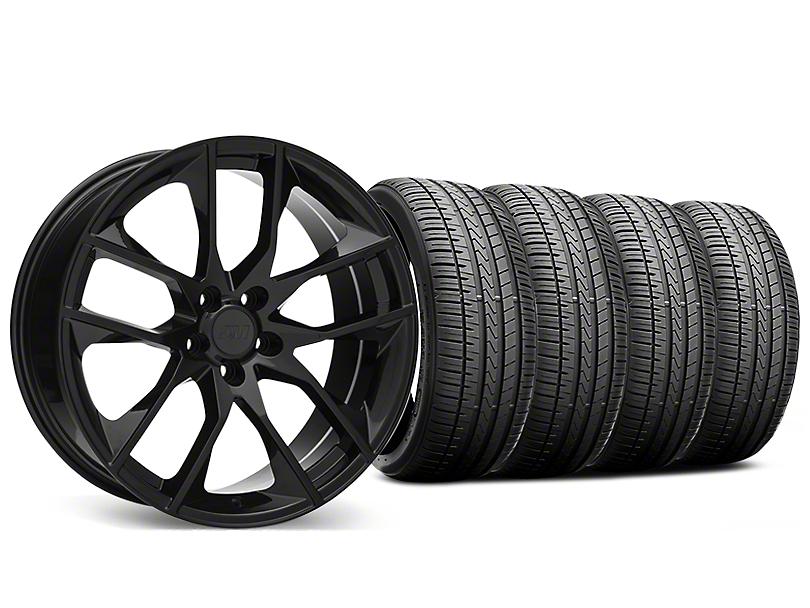 Magnetic Style Black Wheel and Falken Azenis FK510 Performance Tire Kit; 20x8.5 (15-20 GT, EcoBoost, V6)