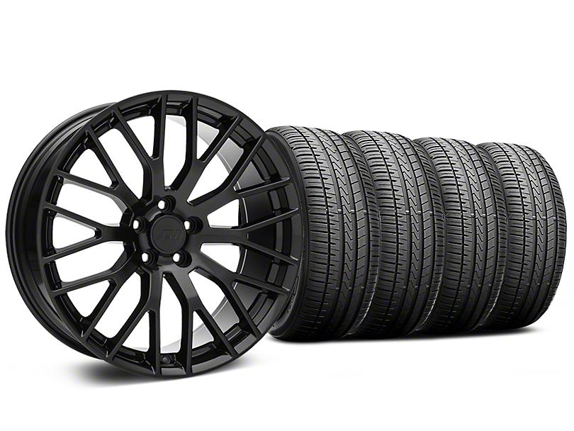 Performance Pack Style Black Wheel and Falken Azenis FK510 Performance Tire Kit; 20x8.5 (15-20 GT, EcoBoost, V6)