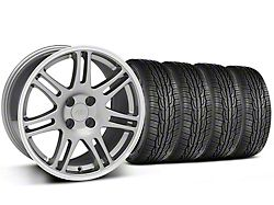 10th Anniversary Cobra Style Anthracite Wheel and Toyo Extensa High Performance II A/S Tire Kit; 17x9 (87-93 All, Excluding Cobra)