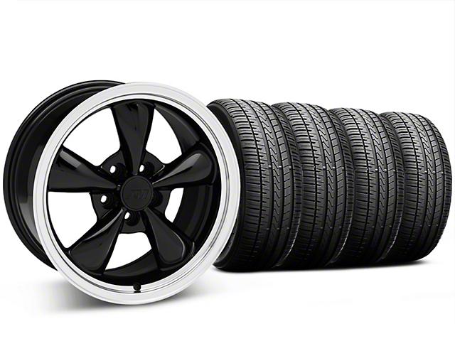 Bullitt Black Wheel and Falken Azenis FK510 Performance Tire Kit; 17x9 (87-93 w/ 5 Lug Conversion)