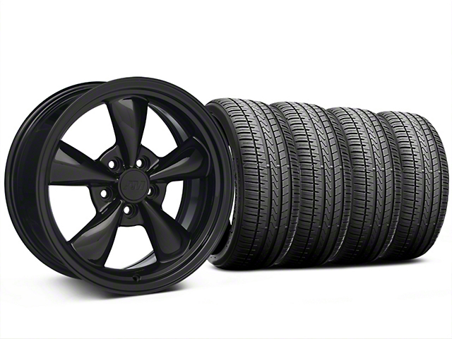 Bullitt Solid Black Wheel and Falken Azenis FK510 Performance Tire Kit; 17x8 (94-04 All)