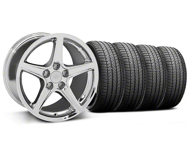 Saleen Style Chrome Wheel & Falken Azenis FK510 Performance Tire Kit - 17x9 (99-04 All)