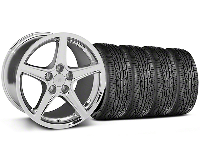 Saleen Style Chrome Wheel & Toyo Extensa High Performance II A/S Tire - 17x9 (99-04 All)