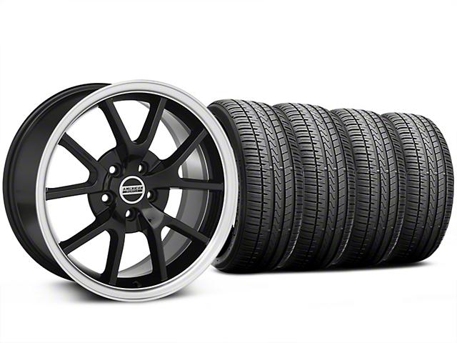 FR500 Style Black Wheel and Falken Azenis FK510 Performance Tire Kit; 18x9 (99-04 All)