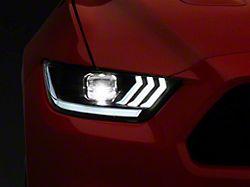 Raxiom LED Projector Headlights; Black Housing; Clear Lens (15-17 All; 18-21 GT350, GT500)
