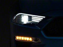 Raxiom LED Projector Headlights; Black Housing; Clear Lens (18-21 GT, EcoBoost)