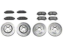 Xtreme Stop Precision Cross-Drilled & Slotted Brake Rotor & Carbon Graphite Pad Kit - Front & Rear (15-20 Standard EcoBoost, V6)