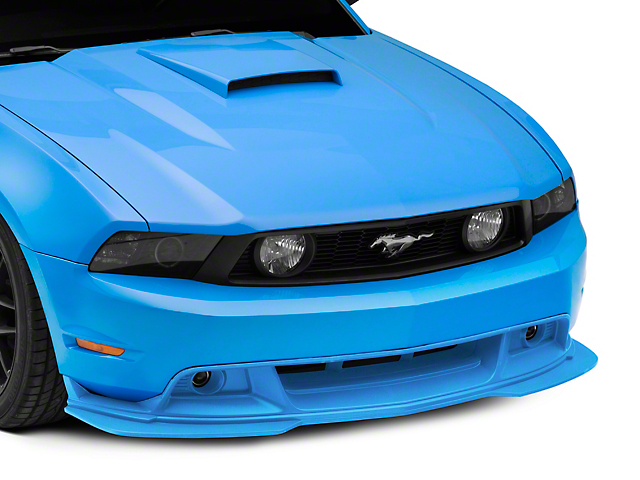 Cervini's GT/CS Chin Spoiler Splitter with Fog Lights; Unpainted (10-12 GT, BOSS 302)