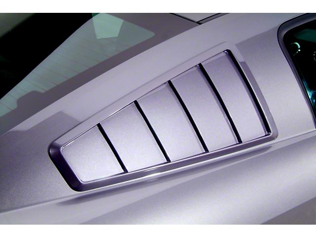 Cervini's 1965 Style Quarter Window Louvers; Unpainted (10-14 Coupe)