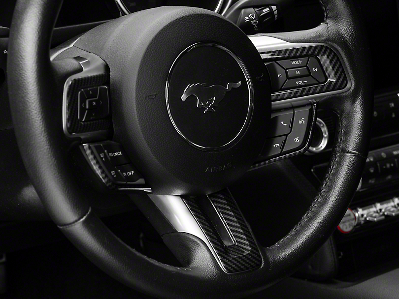 SpeedForm Steering Wheel Trim; Carbon Fiber Style (15-20 All)