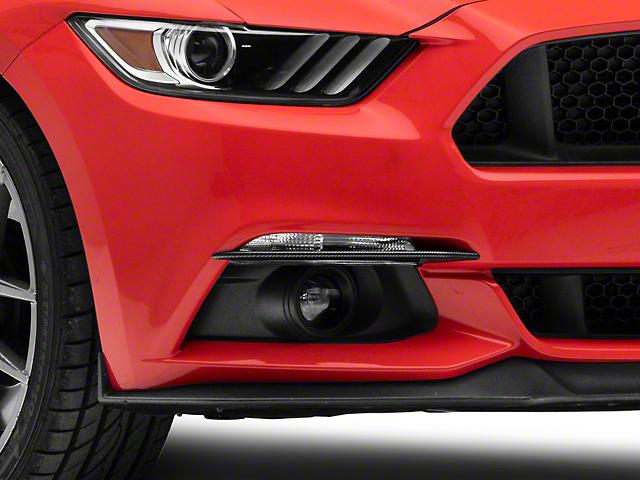 SpeedForm Fog Light Lid Trim; Carbon Fiber Style (15-17 GT, EcoBoost, V6)