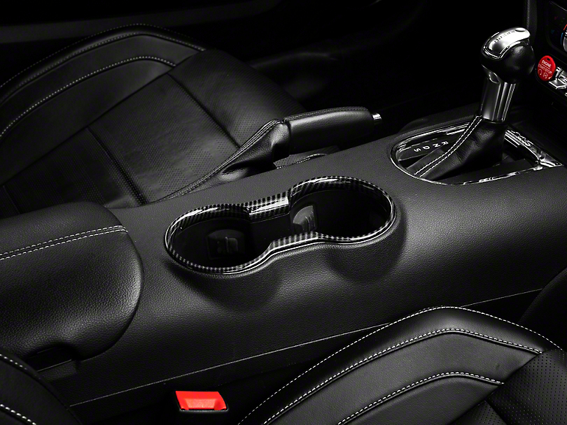 SpeedForm Carbon Fiber Style Cup Holder Trim (15-20 All)